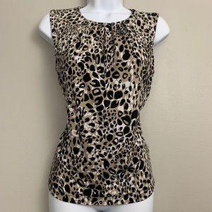 Calvin Klein Leopard Animal Sleeveless Top S C1
